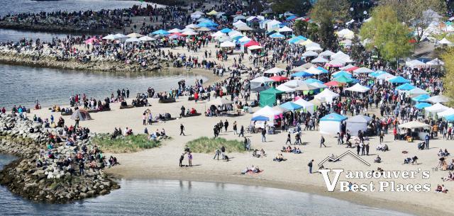 Festival Booths at Sunset Beach