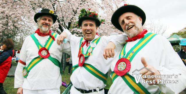 Vancouver Morris Men and Cherry Blossoms