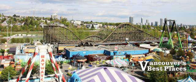 View of Playland from the Ferris Wheel