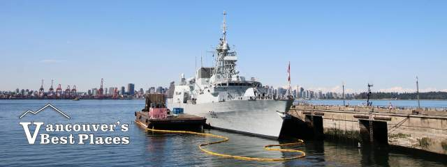 HCMS Winnipeg Navy Ship at Shipbuilders' Pier