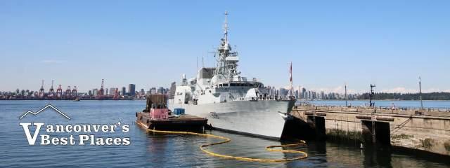 Naval Ship at Shipbuilders' Pier