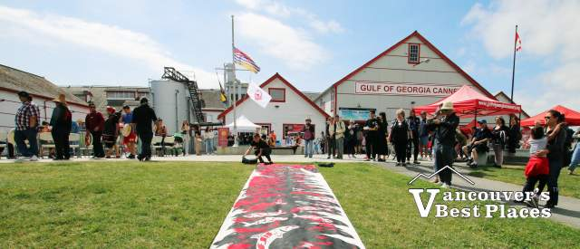 Indigenous Mural at Gulf Cannery