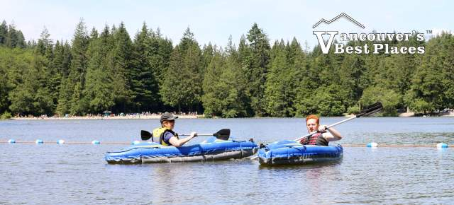 Kayaking at Alice Lake Provincial Park