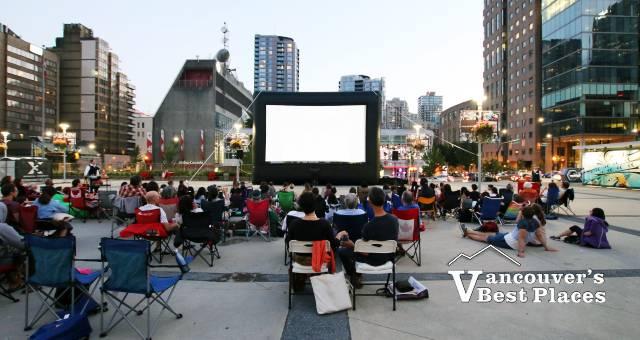 Movie Night at Queen Elizabeth Plaza