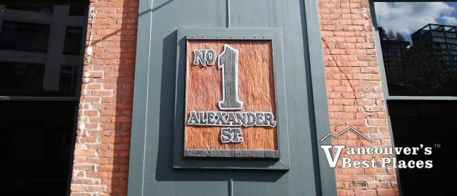 No. 1 Alexander Street in Gastown