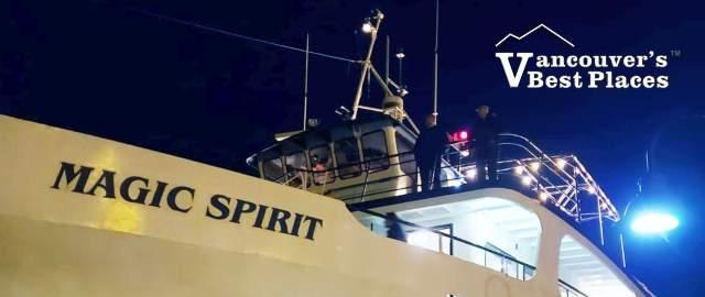 The Magic Spirit Yacht at Night