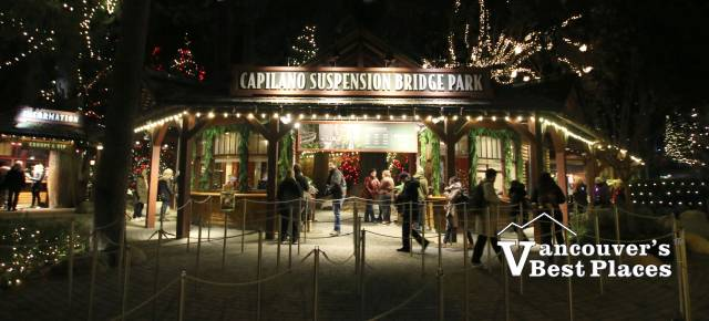 Capilano Bridge Entrance at Christmas