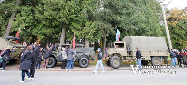Military Vehicles at Coquitlam Remembrance Day