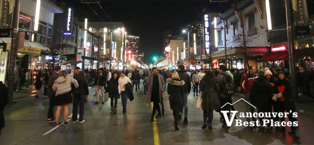 Granville Street on New Year's Eve