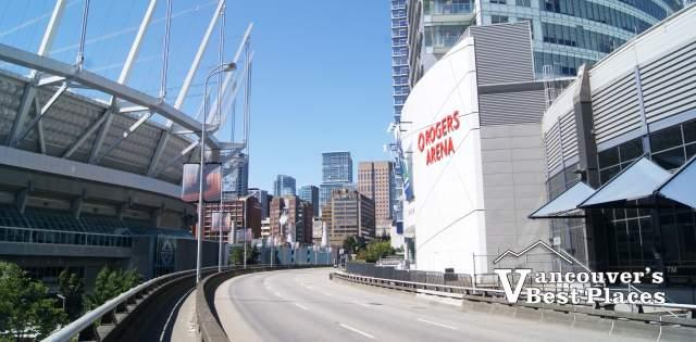 Rogers Arena and Georgia Viaduct