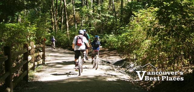 Cycling in Lower Seymour Conservation Reserve