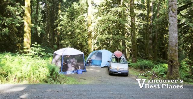 Tenting at Cultus Lake