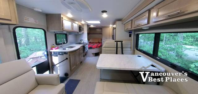 Interior of a Fraserway RV Camper