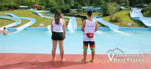 Lifeguards at Bridal Falls Waterpark