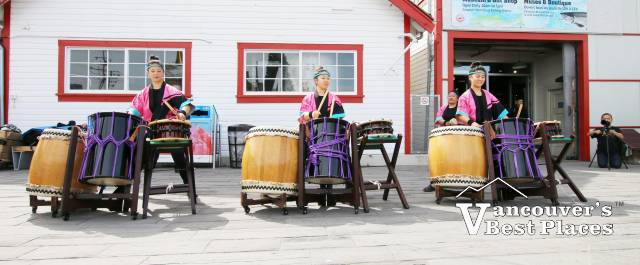 Japanese Drummers at Gulf of Georgia Cannery