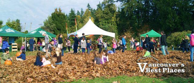 A Leaf Pile at the UBC Apple Festival