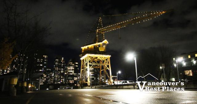 Granville Island Crane at Night