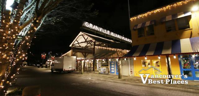 Granville Island Public Market at Night