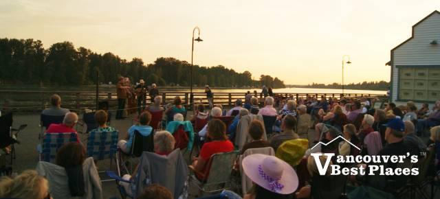 Haney Pier Concert at Dusk