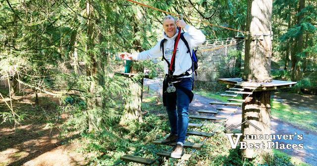 Ropes Course Element in Maple Ridge