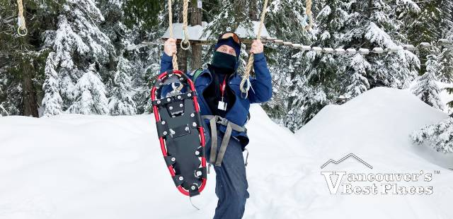 Snowshoes at Grouse Mountain