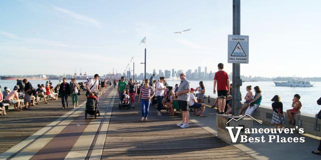 Shipbuilders' Pier and Vancouver Skyline