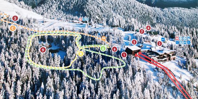 Snowshoeing Map at Grouse Mountain