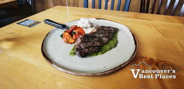 Striploin Steak Dinner at Big Feast Bistro