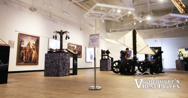 Da Vinci Art and Inventions Exhibits
