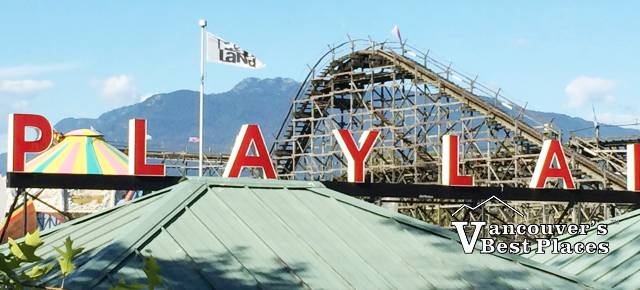 Roller Coaster and Entrance to Playland