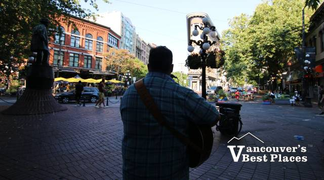 Pat Chessell in Gastown