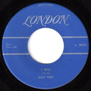 I Will by Billy Fury
