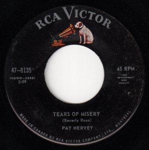 Pat Hervey - Tears Of Misery 45 (RCA Victor Canada).jpg