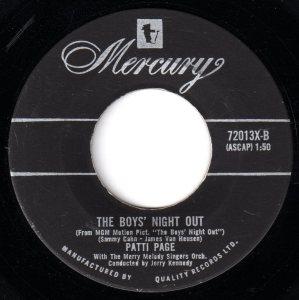 Patti Page - The Boys' Night Out 45 (Mercury Canada).jpg