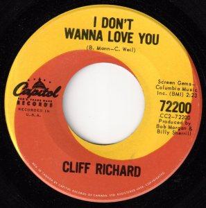 Cliff Richard - I Don't Wanna Love You 45 (Capitol Canada).jpg