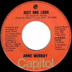 Anne Murray - Just One Look 45 (Capitol Canada).jpg