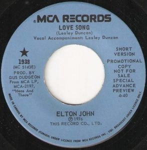 Love Song by Elton John