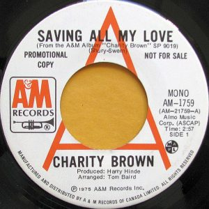 Saving All My Love by Charity Brown