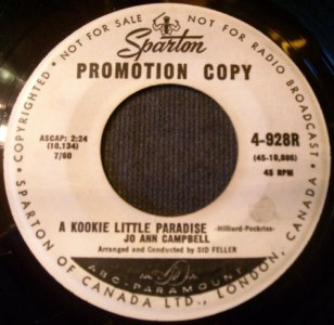 Jo Ann Campbell - A Kookie Little Paradise 45 (Sparton Promo).jpg