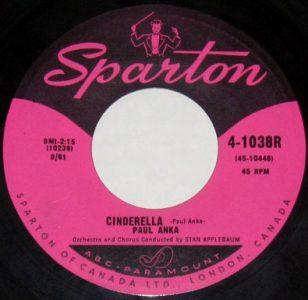 Cinderella by Paul Anka