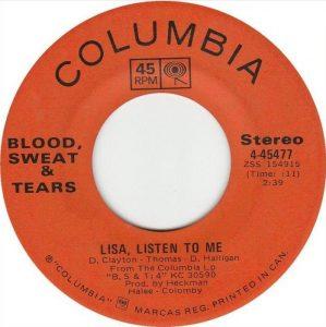 Lisa Listen To Me by Blood, Sweat & Tears
