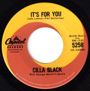 It's For You by Cilla Black