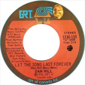 Let the Song Last Forever by Dan Hill