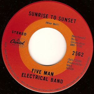 Sunrise to Sunset by Five Man Electrical Band