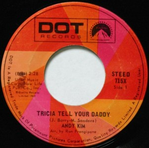 Tricia Tell Your Daddy by Andy Kim