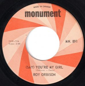 (Say) You're My Girl by Roy Orbison