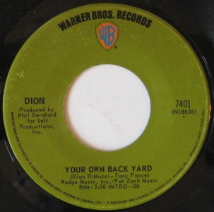 Your Own Back Yard by Dion