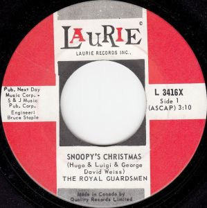 Snoopys Christmas.Snoopy S Christmas By The Royal Guardsmen Vancouver Pop
