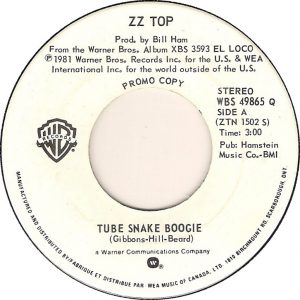 Tube Snake Boogie by ZZ Top