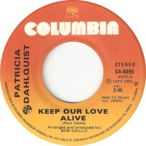 Keep Our Love Alive by Patricia Dalhquist